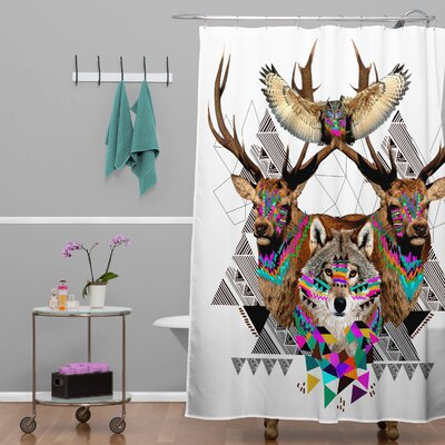 Forest Friends Polyester Shower Curtain