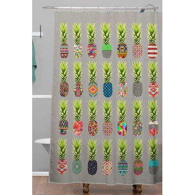 Pineapple Party Polyester Shower Curtain