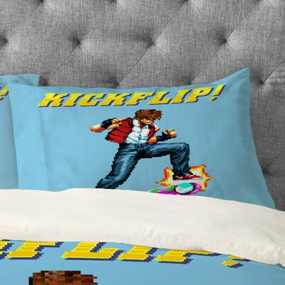 Kickflip Pillowcase Size: Standard