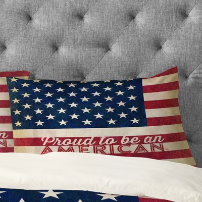 Proud to be an American Flag Pillowcase Size: Standard