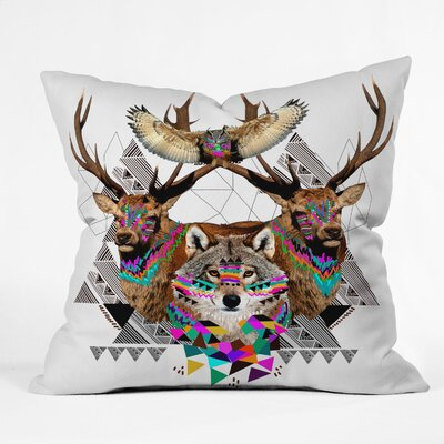 Forest Friends Throw Pillow Size: 26 H x 26 W x 7 D