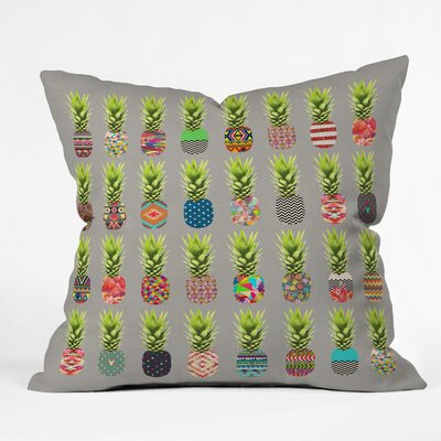 Pineapple Party Throw Pillow Size: 16 H x 16 W x 4 D
