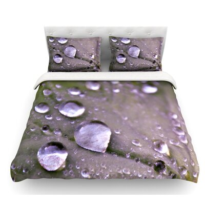 Water Droplets by Iris Lehnhardt Featherweight Duvet Cover Color: Lilac/Purple, Size: Twin
