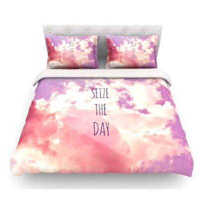 Seize the Day by Iris Lehnhardt Featherweight Duvet Cover Size: Twin