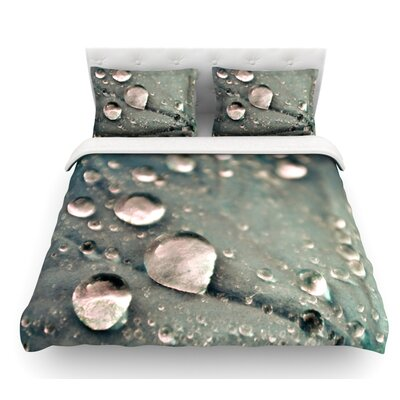 Water Droplets by Iris Lehnhardt Featherweight Duvet Cover Color: Dark Gray, Size: Queen
