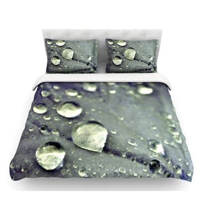 Water Droplets by Iris Lehnhardt Featherweight Duvet Cover Color: Blue/Teal, Size: Queen