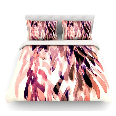 Abstract Leaves I by Iris Lehnhardt Featherweight Duvet Cover Size: Queen