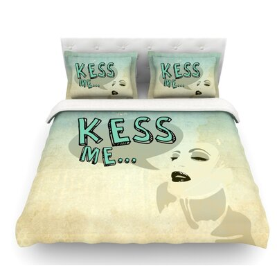 Kess Me by iRuz33 Featherweight Duvet Cover Size: Queen