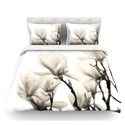 Magnolia Blossoms by Iris Lehnhardt Floral Featherweight Duvet Cover Size: Twin