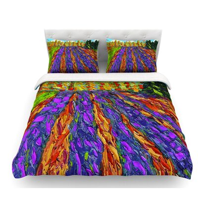 Flowers in the Field by Jeff Ferst Featherweight Duvet Cover Size: Queen