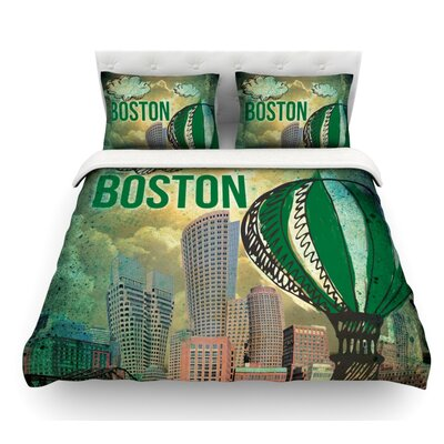 Boston by iRuz33 Featherweight Duvet Cover Size: King