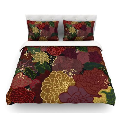 Flowers by Jaidyn Erickson Featherweight Duvet Cover Size: Queen