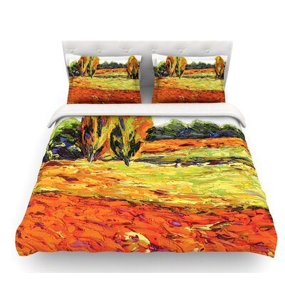Summer Breeze by Jeff Ferst Foliage Featherweight Duvet Cover Size: Twin
