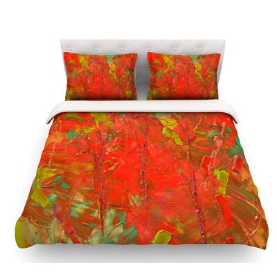 Crimson Forest by Jeff Ferst Featherweight Duvet Cover Size: Twin