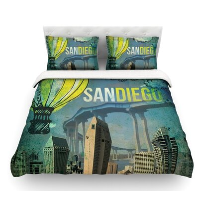 San Diego by iRuz33 Featherweight Duvet Cover Size: Queen