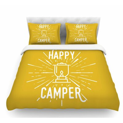 Happy Camper by Jackie Rose Featherweight Duvet Cover Size: Twin