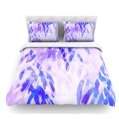 Abstract Leaves III by Iris Lehnhardt Featherweight Duvet Cover Size: Twin