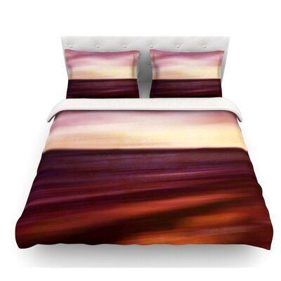 Seascape Sunset Featherweight Duvet Cover Size: Twin