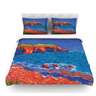 Sea Shore by Jeff Ferst Coastal Featherweight Duvet Cover Size: Queen