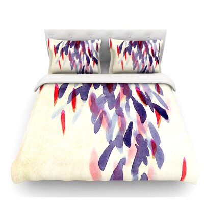 Abstract Leaves IV by Iris Lehnhardt Featherweight Duvet Cover Size: Twin