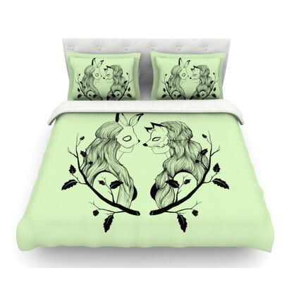 Foxybuns by Jaidyn Erickson Featherweight Duvet Cover Size: Twin