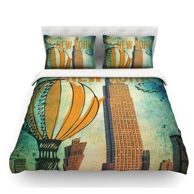 New York by iRuz33 Featherweight Duvet Cover Size: Twin