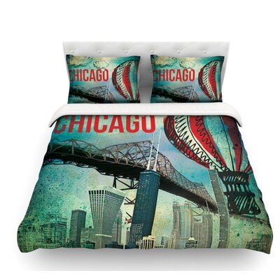 Chicago by iRuz33 Featherweight Duvet Cover Size: Twin