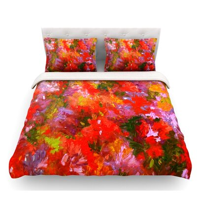 Summer Garden by Jeff Ferst Floral Featherweight Duvet Cover Size: King