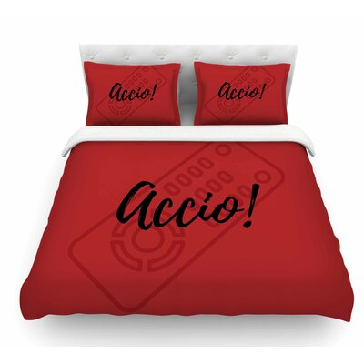 Accio! Remote by Jackie Rose Illustration Featherweight Duvet Cover Size: King