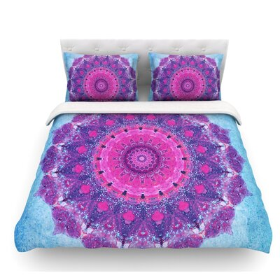 Grunge Mandala by Iris Lehnhardt Featherweight Duvet Cover Size: Twin