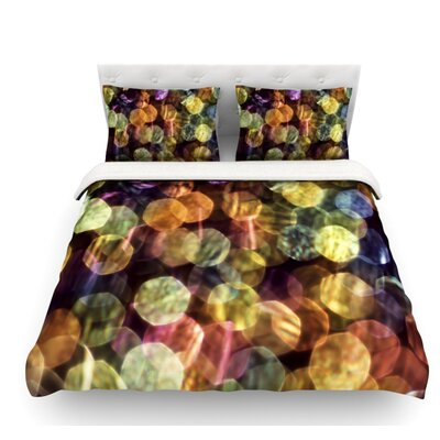 Warm Sparkle by Ingrid Beddoes Featherweight Duvet Cover Size: Twin, Fabric: Woven Polyester