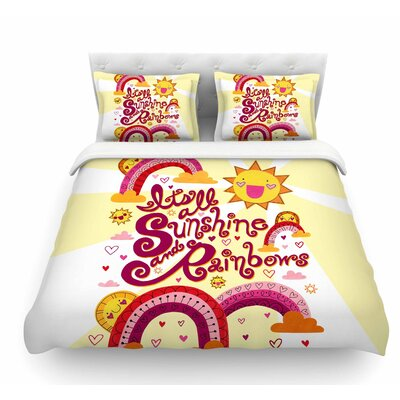 Its All Sunshine and Rainbows by Jane Smith Kids Featherweight Duvet Cover Size: Twin