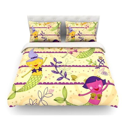 Under the Sea by Jane Smith Featherweight Duvet Cover Size: King