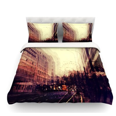 London by Ingrid Beddoes Featherweight Duvet Cover Size: King