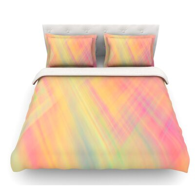 Pastel Abstract by Ingrid Beddoes Featherweight Duvet Cover Size: King