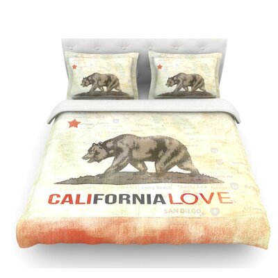 Cali Love by iRuz33 Featherweight Duvet Cover Size: Queen