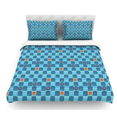 Vintage Checkerboard by Jane Smith Featherweight Duvet Cover Size: Queen, Fabric: Woven Polyester