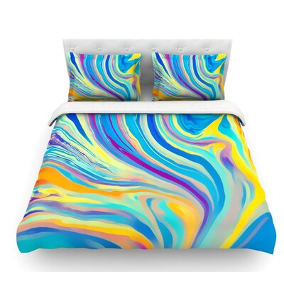 Swirl by Ingrid Beddoes Featherweight Duvet Cover Size: King