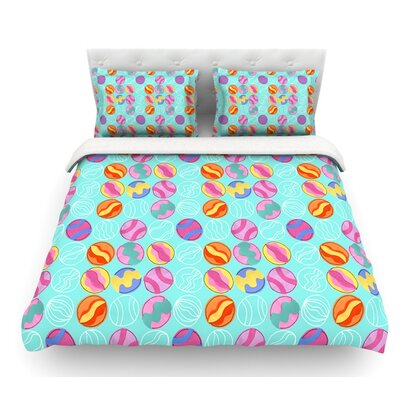 Vintage Playground III by Jane Smith Featherweight Duvet Cover Size: Twin