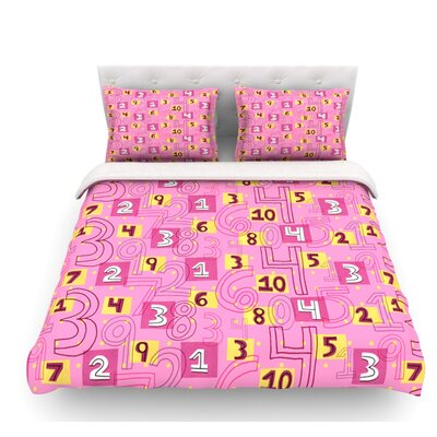 Vintage Playground II by Jane Smith Featherweight Duvet Cover Size: Queen