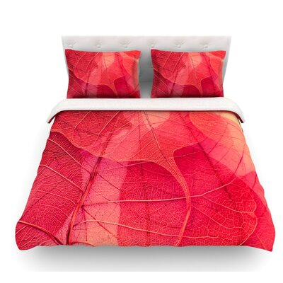 Delicate Leaves by Ingrid Beddoes Featherweight Duvet Cover Size: Queen