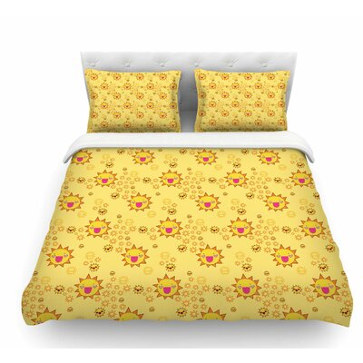 Its All Sunshine by Jane Smith Featherweight Duvet Cover Size: Twin
