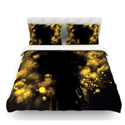 Moonlight Dandelion by Ingrid Beddoes Featherweight Duvet Cover Size: Twin