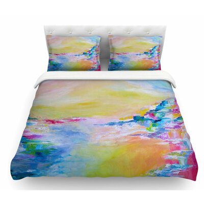 Something About the Sea by Ebi Emporium Featherweight Duvet Cover Color: Yellow/Multi, Size: Twin