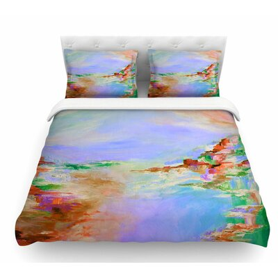 Something About the Sea by Ebi Emporium Featherweight Duvet Cover Color: Multi/Lavender, Size: Twin