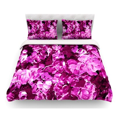 Floral Fantasy by Ebi Emporium Featherweight Duvet Cover Color: Magenta, Size: Queen, Fabric: Lightweight Polyester