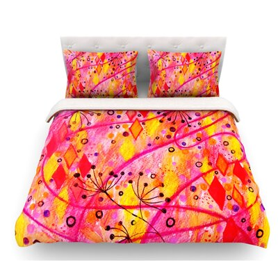 Into the Fall by Ebi Emporium Featherweight Duvet Cover Size: King, Color: Orange/Pink, Fabric: Lightweight Polyester