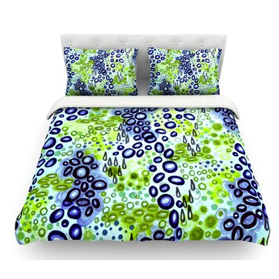 Circular Persuasion by Ebi Emporium Featherweight Duvet Cover Size: King, Color: Green/Aqua/Turquoise
