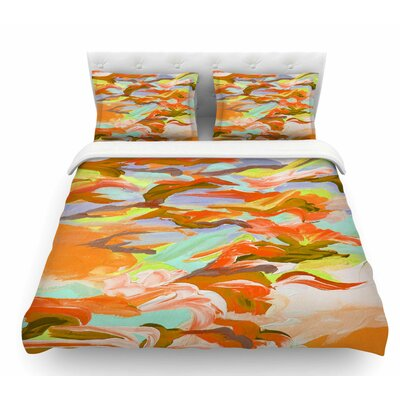 Still Up by Ebi Emporium Featherweight Duvet Cover Size: Twin, Color: Yellow/Orange