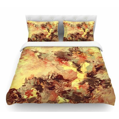 When We Were Mermaids by Ebi Emporium Featherweight Duvet Cover Color: Yellow/Tan, Size: Queen